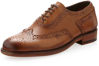 Ben Sherman Alan Brogue Wing-Tip Oxford, Tan