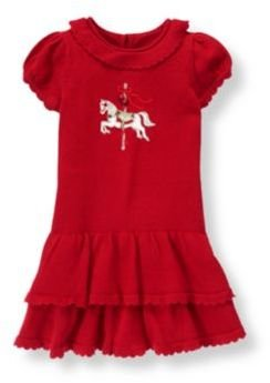 Janie and Jack Carousel Horse Sweater Dress