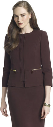 Anne Klein Crew Neck Jacket