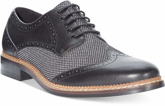 Bar Iii Monte Mixed Media Wing-Tip Oxfords, Created for Macy's Men's Shoes $99.99 thestylecure.com