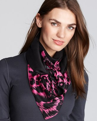 Juicy Couture Snow Leopard Silk Square Scarf