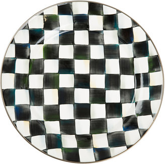 Mackenzie Childs MacKenzie-Childs - Courtly Check Enamel Charger / Plate