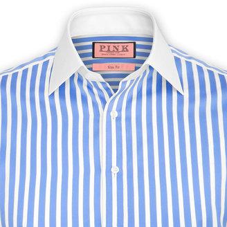 Thomas Pink Gladwin Stripe Shirt - Double Cuff