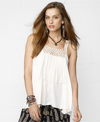Denim & Supply Ralph Lauren Sleeveless Illusion A-Line Top