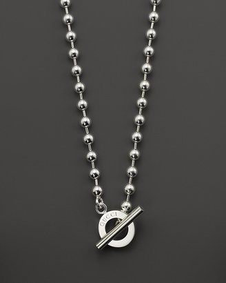 Gucci Boule Sterling Silver Circle Necklace, 17""