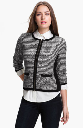 Halogen Two Tone Sweater Jacket