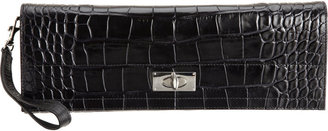 Givenchy Croc-Stamped Long Clutch