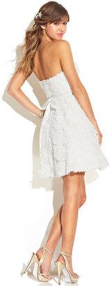 As U Wish Juniors' Strapless Textured Dress