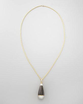 Rachel Zoe Pave Teardrop Pendant Necklace