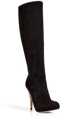 Fendi Suede Boots in Black