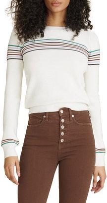 Veronica Beard Jeans Posie Crewneck Striped Pullover