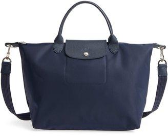 Longchamp 'Medium Le Pliage Neo' Nylon Top Handle Tote