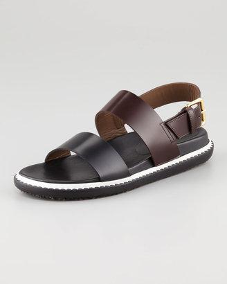 Marni Flat Two-Strap Sport Sandal