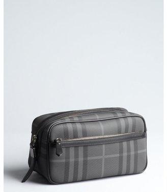Burberry black nova check coated canvas cosmetic travel case