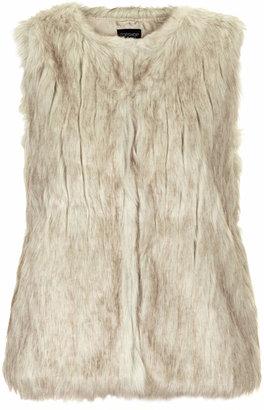 Topshop Faux fur pelted gilet