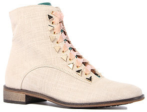 New Kid The Penny Dreamcore Boot in Beige