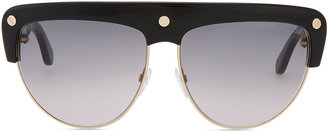 Tom Ford Liane Large Square Sunglasses, Black