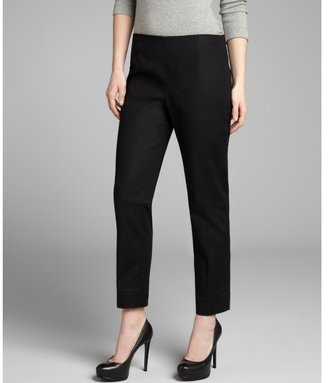 Ellen Tracy black stretch cotton 'Linda' slim ankle pants