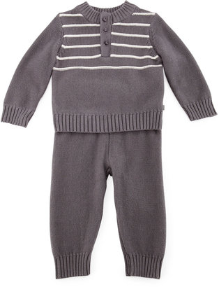 Petit Lem Two-Piece Play Set, Graphite, 3-9 Months