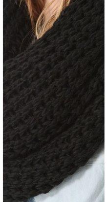 Paula Bianco Chunky Knit Wrap Scarf