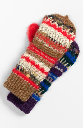 Juicy Couture 'Pop Top' Mixed Yarn Mittens