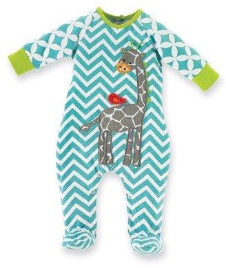 Mud Pie Unisex-Baby Newborn Safari Giraffe Sleeper Footie