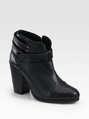 Rag and Bone Rag & Bone Harrow Snake-Print Leather Ankle Boots