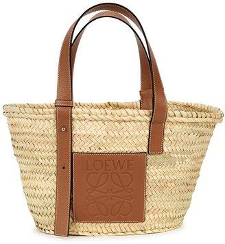 Loewe Medium Sand Raffia Basket Bag