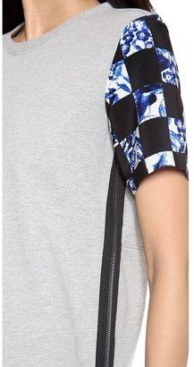 Tibi Rococo Check Sweatshirt Top