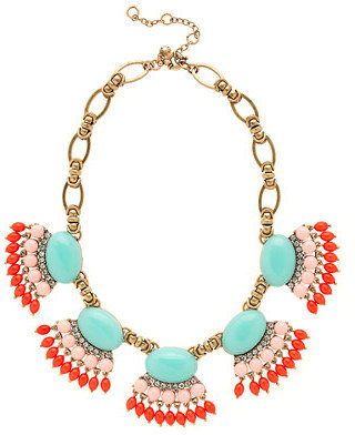 J.Crew Fan fringe necklace