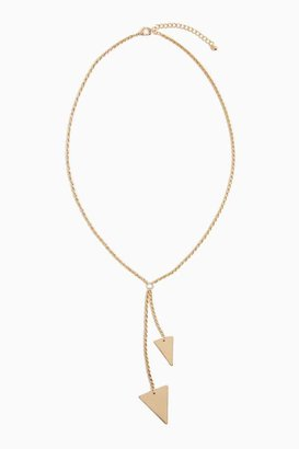Nasty Gal Triangle Lariat Necklace