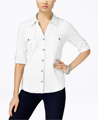 Style & Co Utility Shirt, Created for Macy's $17.98 thestylecure.com