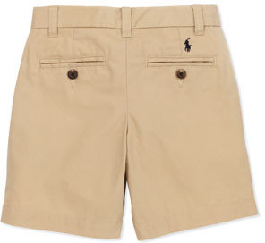 Ralph Lauren Preppy Cotton Shorts, Khaki, 4-7