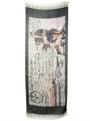 Corto Maltese Printed Gauze Scarf