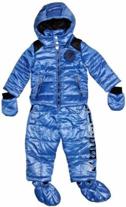 13760e4b1 Diesel Nylon Baby Boy's 2 Piece Snowsuit Jacket with Salopettes Bright  Branded Padded Mittens