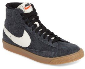 Women's Nike 'Blazer' Vintage High Top Basketball Sneaker $100 thestylecure.com