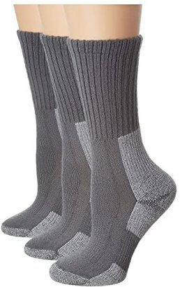 Thorlos Trail Hiking Crew 3 Pair Pack (Oyster Grey) Women's Crew Cut Socks Shoes
