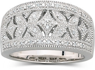 FINE JEWELRY Vintage Inspirations 1/10 CT. T.W. Diamond Vintage Ring Sterling Silver $208.32 thestylecure.com