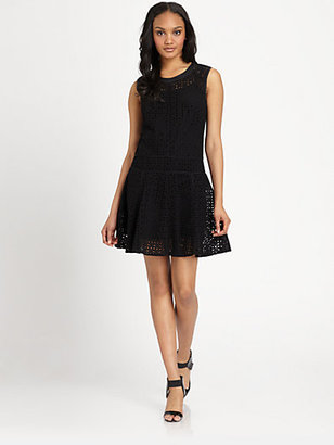 DKNY Eyelet Sheath Dress