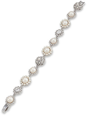Carolee Bracelet, Glass Pearl and Crystal
