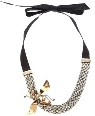 Lanvin insect pendant necklace