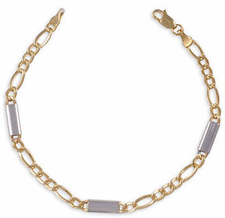 Tag Heuer FINE JEWELLERY 10K Yellow and White Gold Figaro Chain