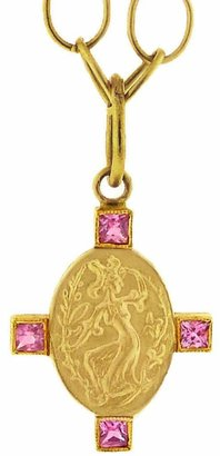 Cathy Waterman Wellspring Muse Pink Sapphire Charm