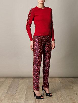 Kenzo Clouded leopard jacquard trousers