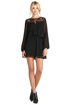BCBGeneration Lace Cropped Overlay Dress