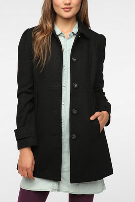 Urban Outfitters Pins and Needles Pleated-Pocket Lady Coat