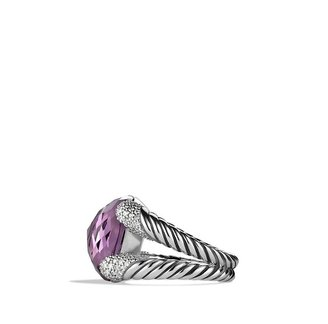 David Yurman Color Cocktail Ring with Amethyst and Diamonds