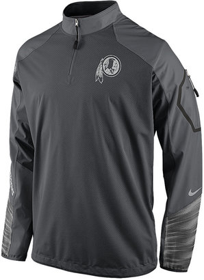 Nike Men's Washington Redskins Platinum Fly Rush Quarter-Zip Pullover $155 thestylecure.com