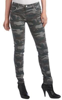 Camo TINSEL Studded Print Skinny Jeans