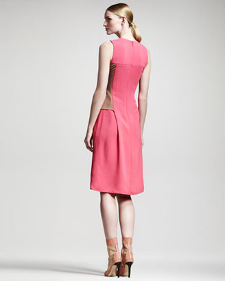 Reed Krakoff Asymmetric Colorblock Dress